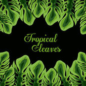 Tropical leaves design — Stockvektor