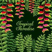 Tropical flowers design — Vecteur
