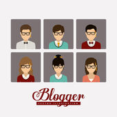 Blogger design — Stockvektor