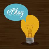 Blogger design — Vetor de Stock