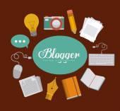 Blogger ontwerp — Stockvector