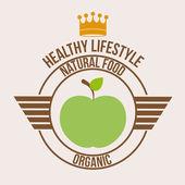 Healthy lifestyle design — Stock Vector