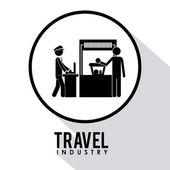 Reisen icondesign — Stockfoto