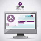 Travel icon design — Stock Photo