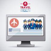 дизайн иконок путешествия — Стоковое фото