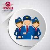Viajes icono diseño — Foto de Stock