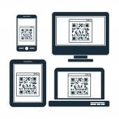 Scan QR Code design — Stockfoto