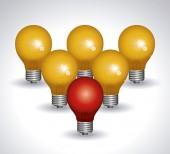 Light bulb design — Stockfoto