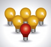 Light bulb design — Fotografia Stock