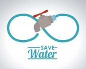 Save Water design — Stock Photo