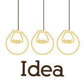 Great idea design — Stock Vector