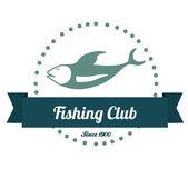 Fishing club design — Stockvektor