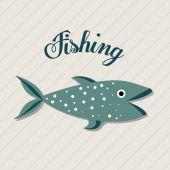Fishing club design — Stock Vector