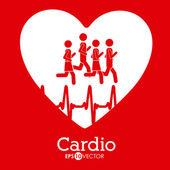 Diseño de cardiología — Vector de stock