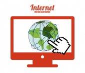 Diseño de internet — Vector de stock