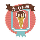 Ice cream design — Stock Vector