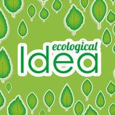 Ecological idea — Stock Vector