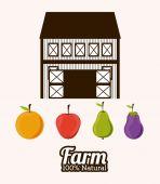 Farm Food design — Vector de stock