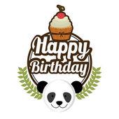 Diseño del cumpleaños feliz — Vector de stock