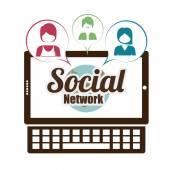 Diseño de redes sociales — Vector de stock