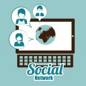 дизайн социальной сети — Cтоковый вектор