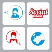 Conception de réseau social — Vecteur