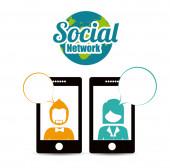 Sosyal ağ tasarımı — Stok Vektör