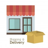 Projeto de entrega — Vetor de Stock