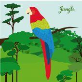 Jungle design — Stock Vector