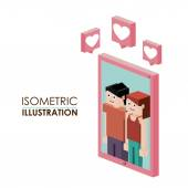 Isometric design — Stock Vector