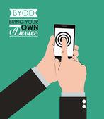 Byod design — Vettoriale Stock