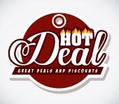 Hot deal design — Stock Vector