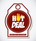 Hot deal design — Stock vektor