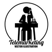 Telemarketing design, vector illustration — Stockvector