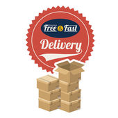 Delivery design, vector illustration — Stock Vector