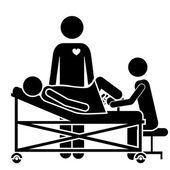 Medical care design — Stock Vector
