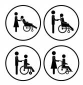 Disabled design — Stock Vector