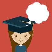 University and Graduation design  — Stock Vector