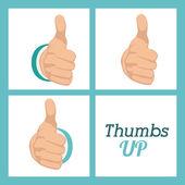 Hands gesture design — Stock Vector