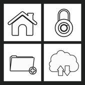 Security systeemontwerp — Stockvector