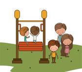 Playground design — Stock Vector