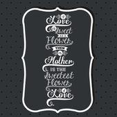 Mothers day design — Stock vektor