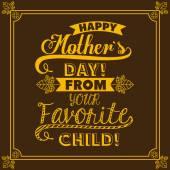 Mothers day design — Stockvector