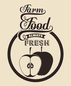 Biologisch voedsel ontwerp — Stockvector
