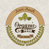 дизайн органические продукты питания — Cтоковый вектор