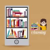 E-learning design — Stockvektor