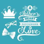 Conception de jour de pères — Vecteur