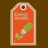 Energy Saving design — Stock Vector