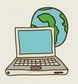 Technologie en multimedia design — Stockvector
