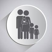 Projekt rodzina — Wektor stockowy